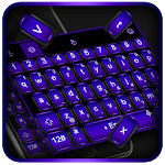 Cool Black Purple Keyboard Theme icon