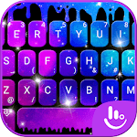 Falling Galaxy Droplets Keyboard Theme icon