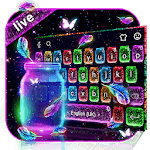 Lovely Live Glitter Bottle Keyboard icon