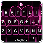 Live Red Heart Keyboard Theme for pc icon