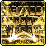 Live Golden Star Keyboard Theme icon
