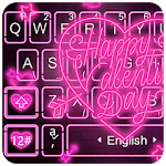 Live Neon Heart Keyboard Theme APK icon