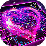 Neon Galaxy Heart Keyboard Theme icon