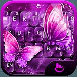 Neon Purple Butterfly Keyboard Theme APK icon