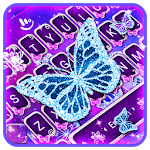 Neon Sparkle Butterfly Keyboard Theme APK icon