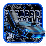 Neon Water Sports Car Keyboard Theme icon