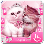 Cute Pink Lovely Cat Keyboard Theme icon