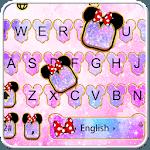 Pink Galaxy Minny Keyboard Theme icon