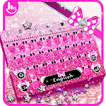 Pink Glitter Minny Keyboard Theme APK icon