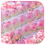Pink Sakura Flower Keyboard Theme icon