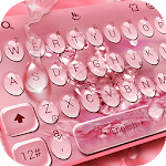 Rose Gold Water Droplets Keyboard Theme icon