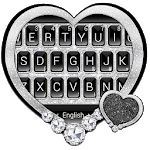 Black Silver Glitter Keyboard Theme icon