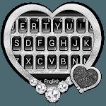 Black Silver Glitter Keyboard Theme APK icon