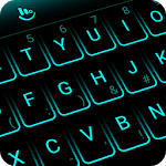 Simple Neon Blue Future Tech Keyboard Theme icon
