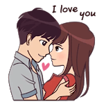 Couple Story Stickers Packs - WAStickerApps for pc icon