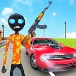 Stickman Crime simulator: Real stickman games icon