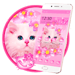 Cute Pink Kitty Cat Theme icon