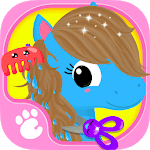 Cute & Tiny Horses - Baby Pony Care & Hair Salon icon