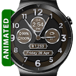 Brushed Wood HD Watch Face Widget & Live Wallpaper icon
