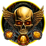 Golden Devil Skull Theme icon