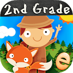 Animal Second Grade Math Games for Kids Free App icon