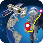 Live Earth Map & GPS Voice Driving Directions icon