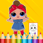 Dolls Surprise Coloring Book Lol icon