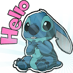 Cute Blue Koala Stitch Stickers for WhatsApp icon