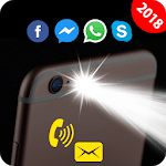 Flash on Call and SMS: Automatic Bright flashlight icon