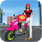 Moto Bike Pizza Delivery 2019 – Girl Food Game APK icon