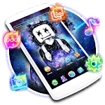 DJ Neon Galaxy Launcher Theme Live HD Wallpapers icon