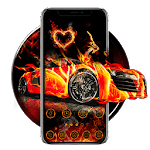Flaming Car Sports Launcher Theme Live Wallpapers icon