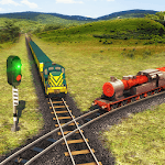 Indian Train Racing Games 3D - Multiplayer icon