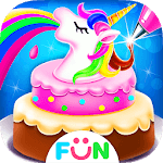 Unicorn Food-Children Rainbow Cake Bakery icon