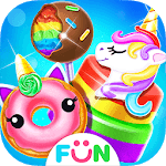 Unicorn Food Salon-Bakery Food Games icon