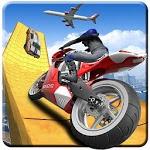 Motorcycle Impossible Ramp Mega stunts: 3D tracks icon