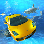Underwater Stunts Car Flying Race for pc icon