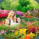 Garden photo frame : Decorate your Photos icon