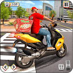 Pizza Delivery Boy Driving Simulator : Bike Games icon