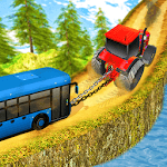 Chained Tractor Towing Bus icon