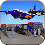 US Police Airplane Cop Dog Transporter Kids Games icon