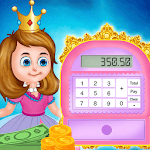 Pink Princess Cash Register - Cashier Girl Games APK icon