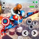 Flying Robot Captain Superhero Games City Survival icon