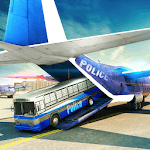 Police Airplane Transporter Vehicle icon