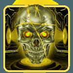 Gold Tech Metallic Skull Theme icon