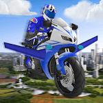 Futuristic Flying Moto Racing icon