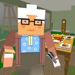 Granny Blocky Neighbor. Craft Escape icon