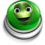 Green alien dance button icon