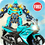 US Robot Bike Transform Shooting Game APK icon