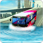 River bus driving tourist bus simulator 2018 icon